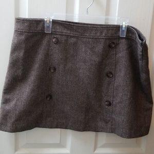Gap brown tweed skirt. Like new. 18